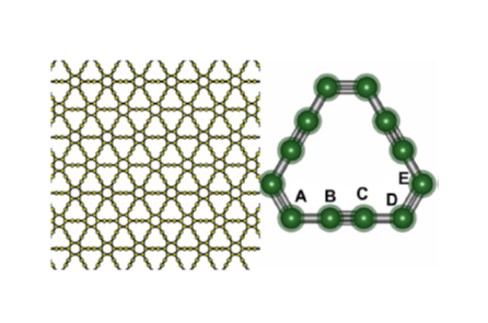 Geometric structure of y-graphene
